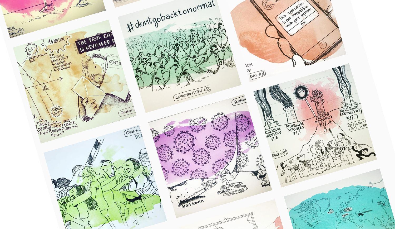 Quarantine Days – ein Corona-Tagebuch mit illustrierten Bildern
